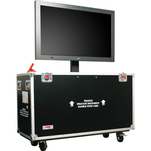 Gator Cases G-TOURLCDLIFT55 ATA Wood Flight Case w/ Hydraulic LCD Lift & Casters