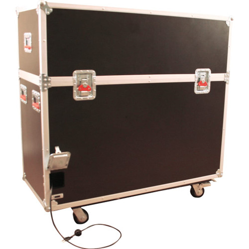 Gator Cases G-TOURLCDLIFT65 ATA Wood Flight Case w/ Hydraulic LCD Lift & Casters