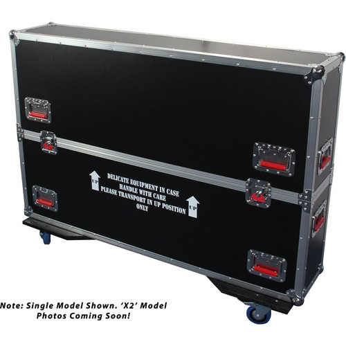 Gator cases G-TOURLCDV2-3743-X2 G-TOUR case designed to easily adjust and fit two LCD, LED or plasma screens in the 37 to 43 inch class. Interior dims 43 X 6.3 X 30.5 (X2), main