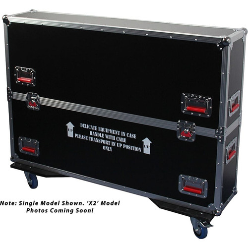 Gator cases G-TOURLCDV2-4350-X2 G-TOUR case designed to easily adjust and fit two LCD, LED or plasma screens in the 43 to 50 inch class. Interior dims 49.5 X 6.3 X 30.5 (X2), main