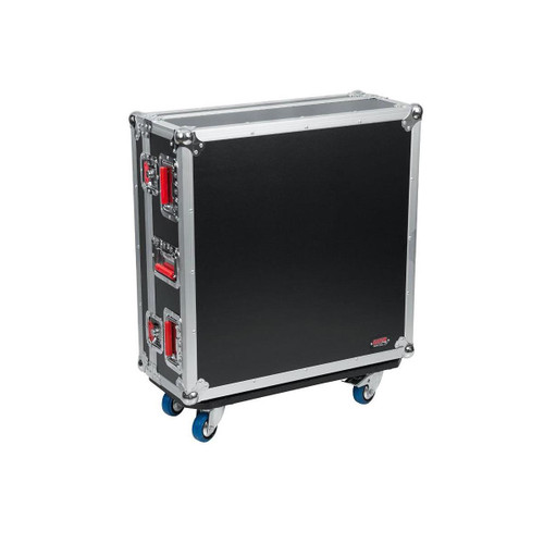 Gator cases G-TOURQU24 ATA Wood Flight Case for Allen & Heath QU24 Mixing Console with Doghouse Design, left