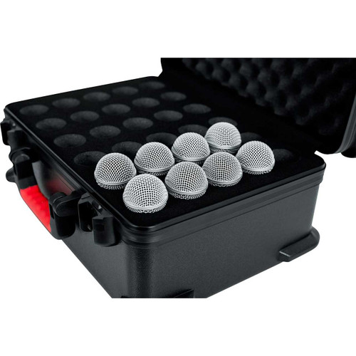 Gator Cases GTSA-MIC30 TSA Series ATA Molded Polyethylene Case for Up to 30 Mics