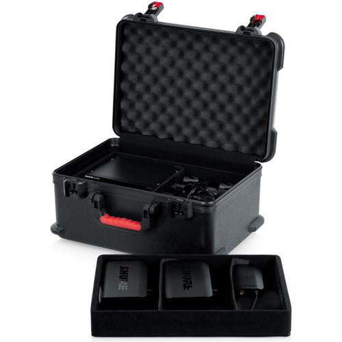 Gator Cases GTSA-MICW7 TSA Series ATA Molded Polyethylene Case for 7 Wireless Mics