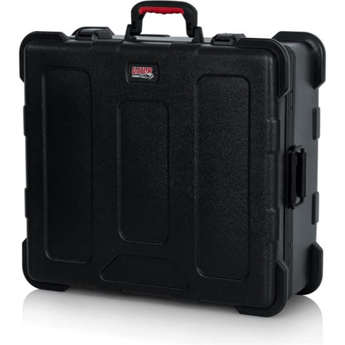 Gator cases GTSA-MIX12PU TSA Series ATA Molded Polyethylene Mixer Case with 12U Pop-Up Rack Rails, left