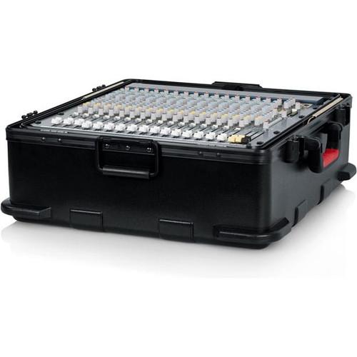 Gator Cases GTSA-MIX12PU TSA Series ATA Molded Polyethylene Mixer Case with 12U Pop-Up Rack Rails