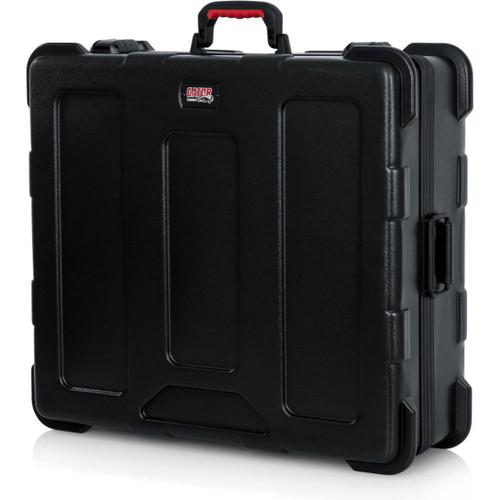 "Gator cases GTSA-MIX222508 TSA Series ATA Molded Polyethylene Mixer or Equipment Case; 22""x25""x8"", left"