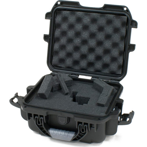 Gator cases GU-0705-03-WPDF Black Waterproof Injection molded case, with interior dimesions of 7.4 x 4.9 x 3.1 inches. DICED FOAM, right