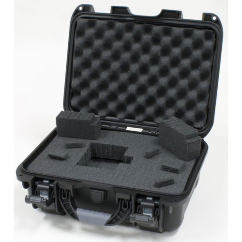 Gator cases GU-1309-03-WPDF Black Waterproof Injection molded case, with interior dimesions of 13.2 x 9.2 x 3.8 inches. DICED FOAM, open case