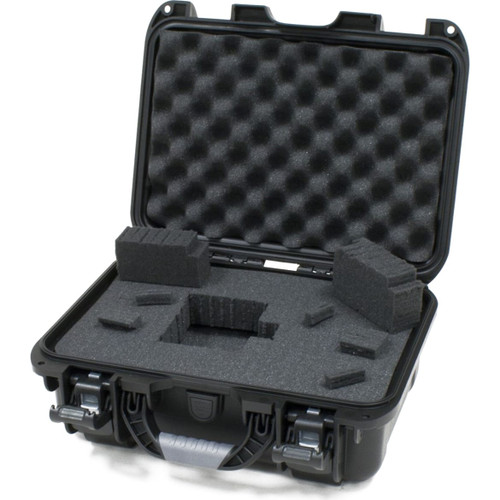 "Gator cases GU-1309-06-WPDF Black waterproof injection molded case with interior dimensions of 13.8"" x 9.3"" x 6.2"". DICED FOAM, main"
