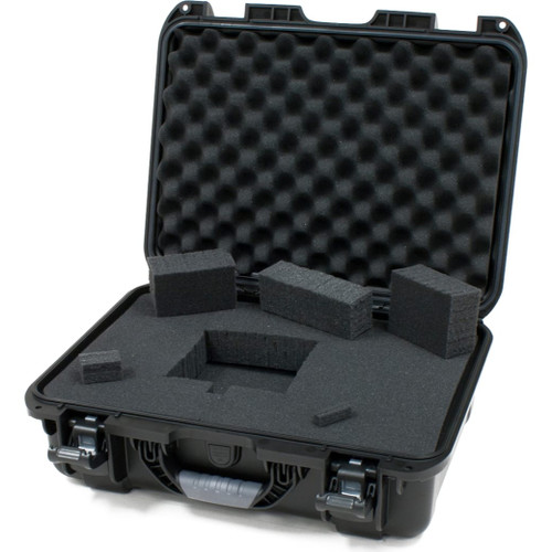 "Gator cases GU-1711-06-WPDF Black waterproof injection molded case with interior dimensions of 17"" x 11.8"" x 6.4"". DICED FOAM, main"