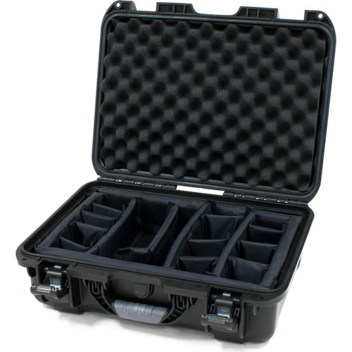 "Gator cases GU-1711-06-WPDV Black waterproof injection molded case with interior dimensions of 17"" x 11.8"" x 6.4"". INTERNAL DIVIDER SYSTEM, main"
