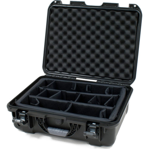 "Gator cases GU-1813-06-WPDV Black waterproof injection molded case with interior dimensions of 18"" x 13"" x 6.9"". INTERNAL DIVIDER SYSTEM, main"