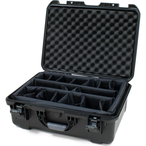 "Gator cases GU-2014-08-WPDV Black waterproof injection molded case with interior dimensions of 20"" x 14"" x 8"". INTERNAL DIVIDER SYSTEM, main"
