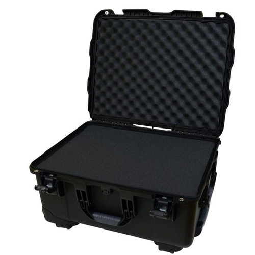 "Gator cases GU-2015-10-WPDF Black injection molded case with pullout handle, inline wheels, and Interior dims 20.5"" x 15.3"" x 10.1"". DICED FOAM, main"