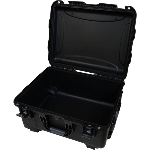 "Gator cases GU-2015-10-WPNF Black injection molded case with pullout handle and inline wheels. Interior dims 20.5"" x 15.3"" x 10.1"". NO FOAM, main"
