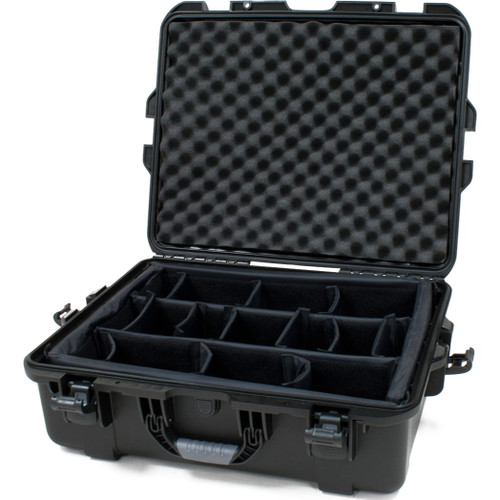 "Gator cases GU-2217-08-WPDV Black waterproof injection molded case with interior dimensions of 22"" x 17"" x 8.2"". INTERNAL DIVIDER SYSTEM, main"