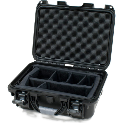 "Gator cases GU-1309-06-WPDV Black waterproof injection molded case with interior dimensions of 13.8"" x 9.3"" x 6.2"". INTERNAL DIVIDER SYSTEM, main"
