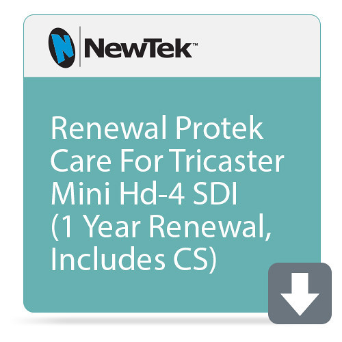 NewTek FG-001190-R001 1 Year Renewal ProTek Care for TriCaster Mini HD-4 sdi