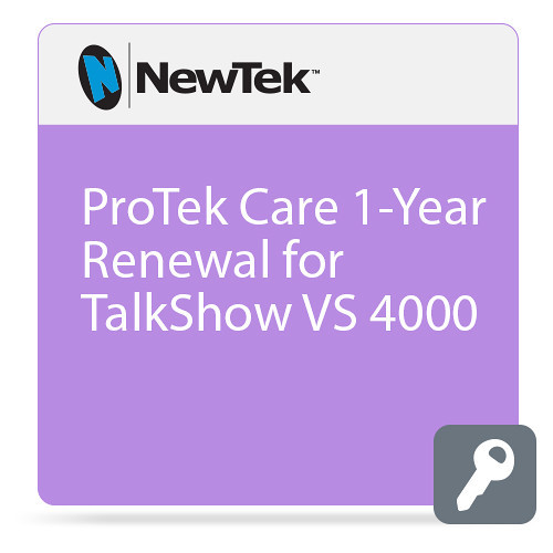 NewTek FG-001397-R001 1 Year Renewal ProTek Care for TalkShow VS 4000