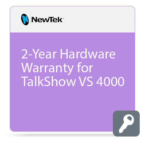 NewTek FG-001398-R001 2-Year Hardware Warranty for TalkShow VS 4000