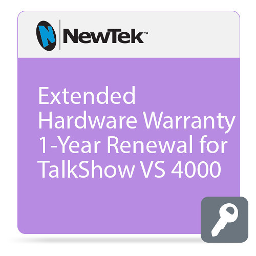 NewTek FG-001399-R001 Renewal Extended Hardware Warranty for TalkShow VS 4000