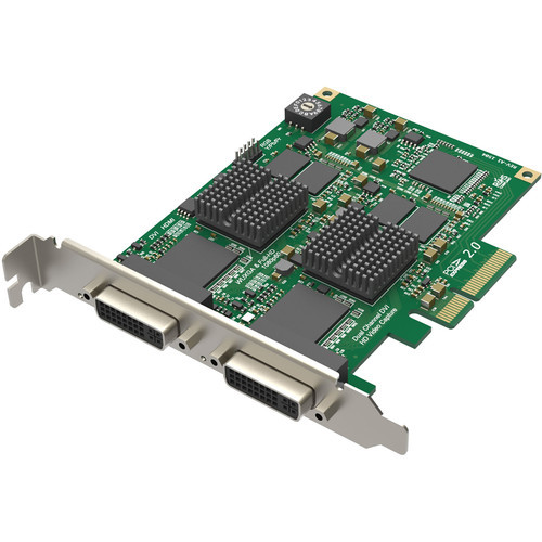Magewell 11070 Pro Capture Dual DVI; FH PCIe x4, 2-channel HDMI / DVI / VGA / YPbPr / CVBS. W/L/M.