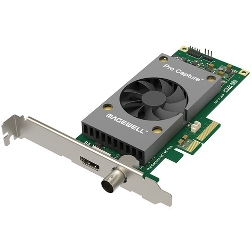 Magewell 11140 Pro Capture 4K AIO Plus, LP PCIe x4, 1-channel HDMI/SDI, Ultra HD 4Kp60 HDMI, 4Kp30 SDI. W/L/M.