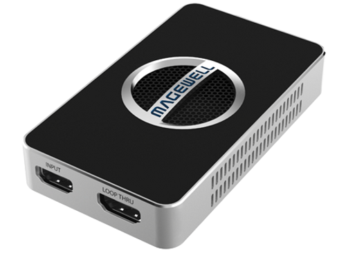 Magewell 32090 USB 3.0 DONGLE, 1-channel 4K/30fps HDMI with loop-through out, plus extra audio mic in / out. Plug and Play. W/L/M. 3-year warranty.