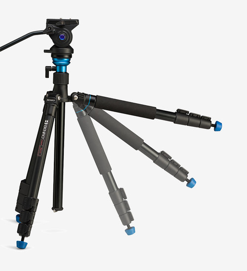 Benro A2883FS4 Aluminum Travel Tripod, S HEAD 65.2""