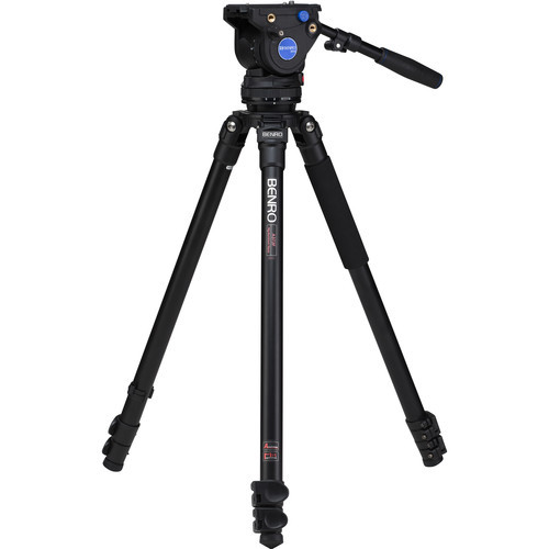 Benro A373FBV4H BV4 Aluminum Video Tripod Kit 64.2""