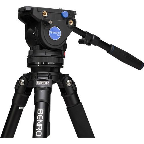 """Benro A373FBV4H BV4 Aluminum Video Tripod Kit 64.2"""""""