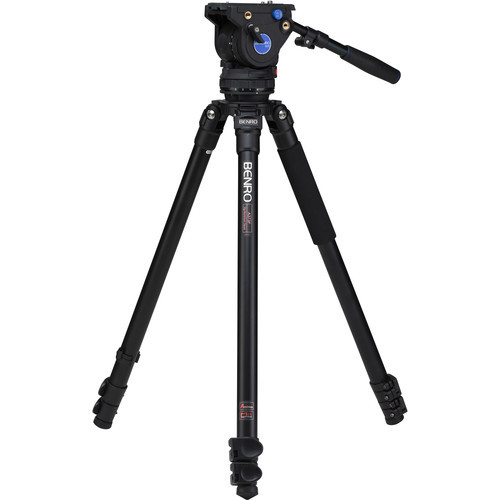 Benro A373FBV6H BV6 Aluminum Video Tripod Kit 64.2""
