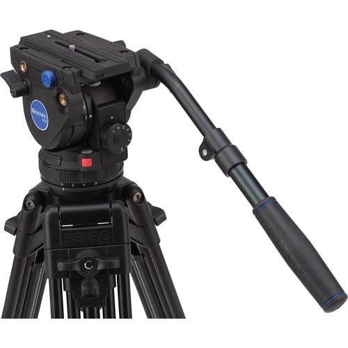 """Benro A373FBV6H BV6 Aluminum Video Tripod Kit 64.2"""""""