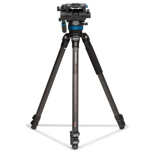 Benro C373FBS8 Carbon Fiber Tripod & S Video HEAD 63.8""