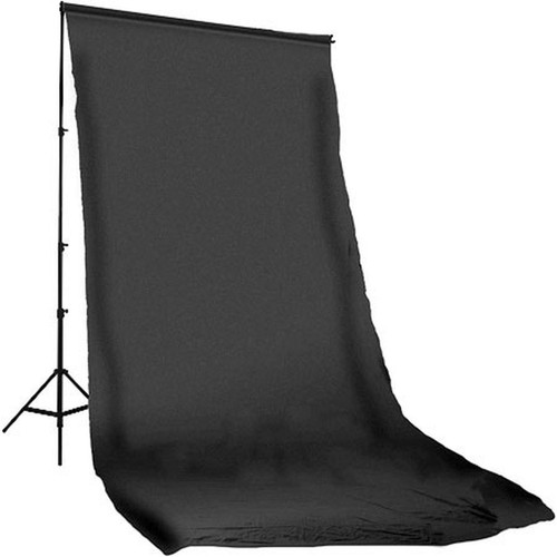Photoflex Muslin Backdrop (Black, 10 x 20')