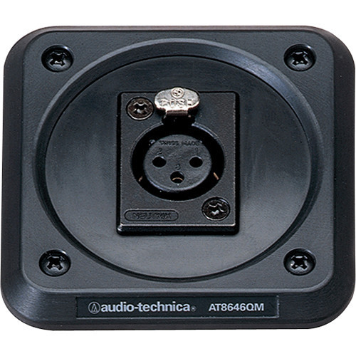 Audio-Technica AT8646QM Microphone shock-mount plate, XLRF-type connector mount