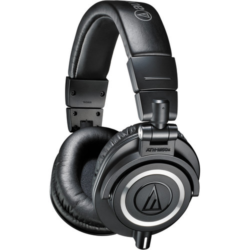 Audio-Technica ATH-M50X Closed-back dynamic monitor headphones, detachable cables, black