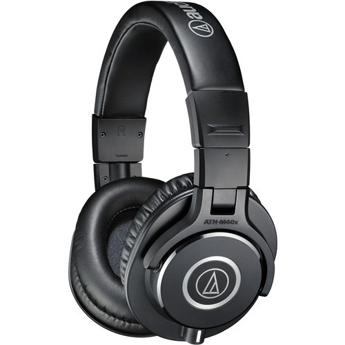 Audio-Technica ATH-M40X Closed-back dynamic monitor headphones, detachable cables