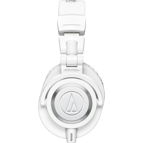 Audio-Technica ATH-M50XWH Closed-back dynamic monitor headphones, detachable cables, white