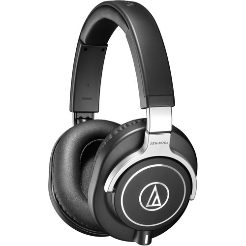 Audio-Technica ATH-M70X Closed-back professional monitor headphones, detachable cables.