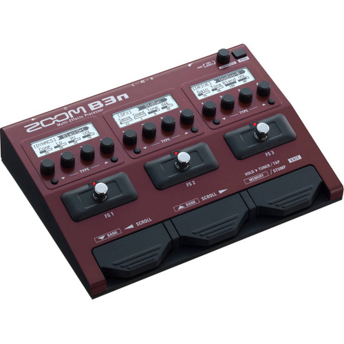 Zoom ZB3N Multi-Effects Processor for Bass Left Angle