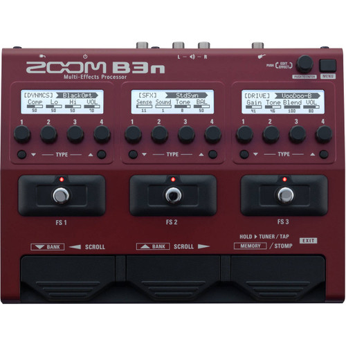 Zoom ZB3N Multi-Effects Processor for Bass Front