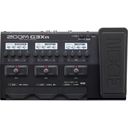Zoom ZG3XN Multi-Effects Processor with Expression Pedal Front