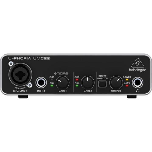 Behringer U-PHORIA 2x2 USB Audio Interface