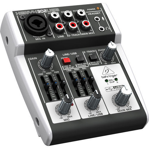 Behringer 302USB 5-Input Compact Mixer and USB Interface