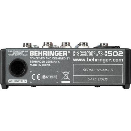 Behringer 502 502 5-Channel Compact Audio Mixer