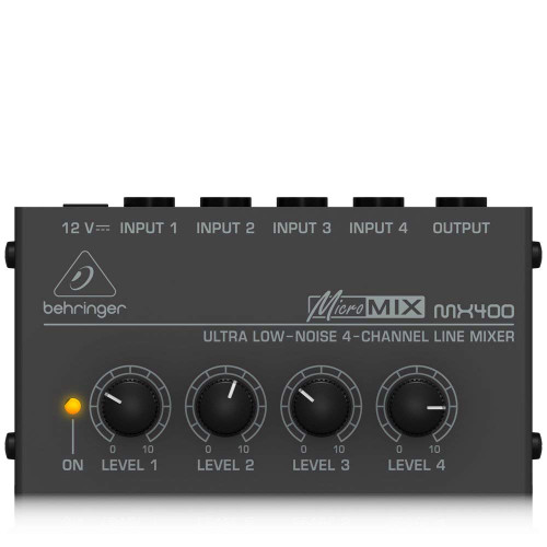 Behringer MX400 MicroMix Four-Channel Low-Noise Mixer