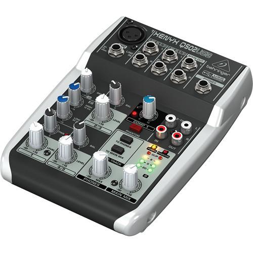 Behringer Q502USB Premium 5-Input 2-Bus Mixer