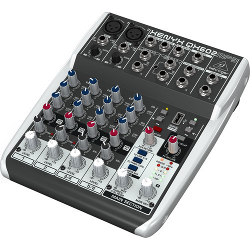Behringer QX602MP3 6-Input 2-Bus Analog Mixer