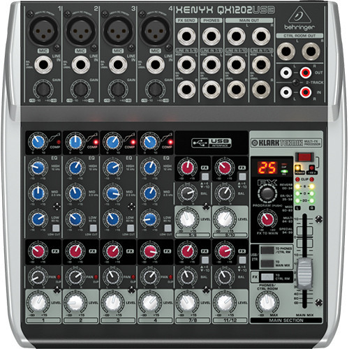 Behringer QX1202USB Premium 12-Input 2-Bus Mixer